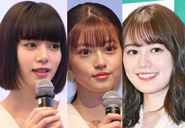 左から池田エライザ(昨年11月撮影)、今田美桜(昨年11月撮影)、生田絵梨花(昨年1月撮影)