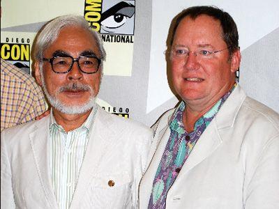 宮崎駿監督とジョン・ラセター
