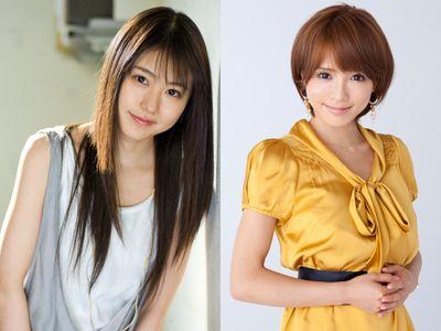 主演の有村架純(左)と釈由美子