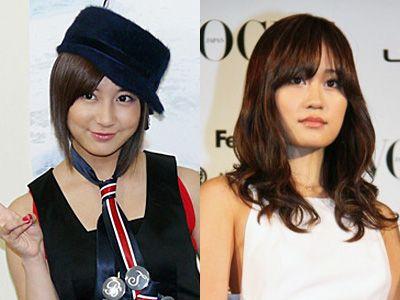 (左)早くも不出馬の意向を示した小野恵令奈、(右)前田敦子の出馬はある?