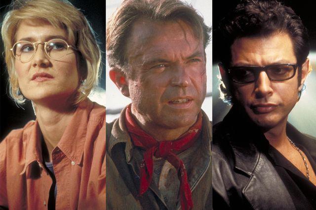 ファン待望の再集結! - 左から順に『ジュラシック・パーク』でのサトラー博士、グラント博士、マルコム博士