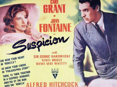 ヒッチコック映画『断崖』が公開された当時のポスタービジュアル