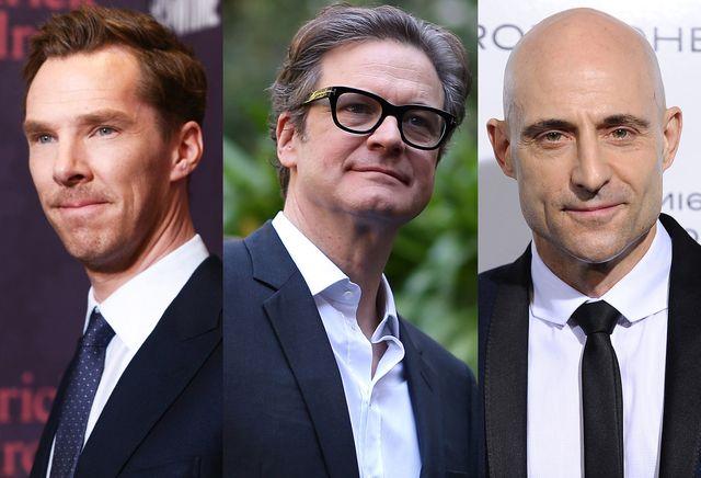 脇を固めるのは人気英国人俳優たち! - 左からベネディクト・カンバーバッチ、コリン・ファース、マーク・ストロング