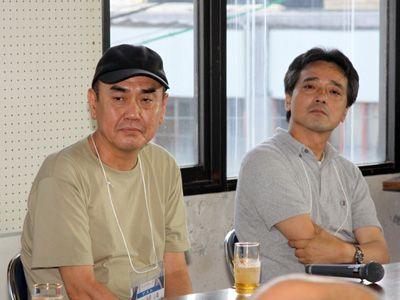 左から佐々部清監督、脚本の青島武