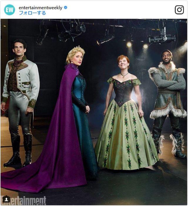 (左から)ハンス王子、エルサ、アナ、クリストフ(EW.com公式Instagramのスクリーンショット)