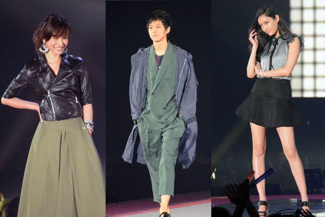 豪華出演者に観客たちが熱狂! (左から)石原さとみ、松坂桃李、菜々緒