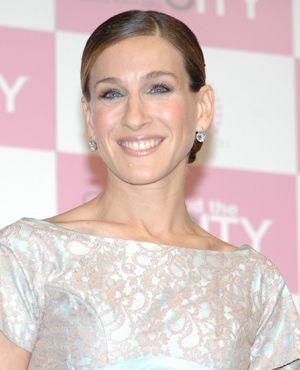2002年にマシュー・ブロデリックとの子どもジェームズ・ウィルキー・ブロデリックを出産した、サラ・ジェシカ・パーカー。