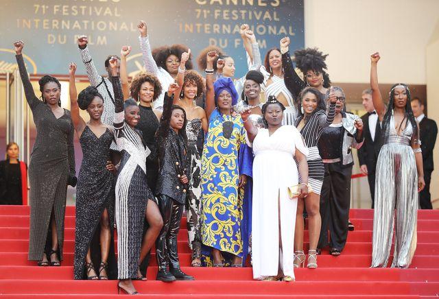 フランスの黒人女優たちもレッドカーペットで抗議! - 現地時間16日撮影