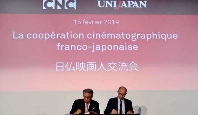 ユニジャパン副理事の椎名保とCNC代表のクリストフ・タルデュー