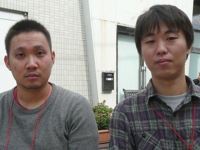 日本映画界の新鋭として今後が期待されている(左)濱口竜介、(右)酒井耕
