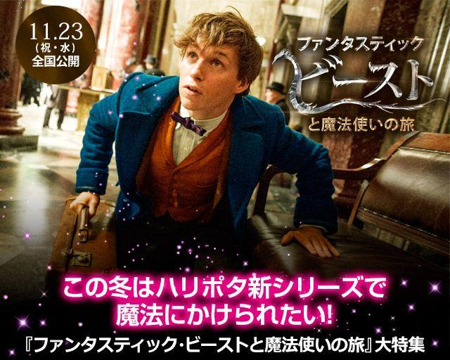 この冬はハリポタ新シリーズで魔法にかえられたい!『ファンタスティック・ビーストと魔法使いの旅』大特集