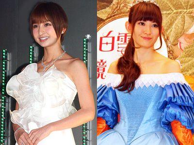 15位に沈んだ篠田麻里子(左)と20位の小嶋陽菜(右)