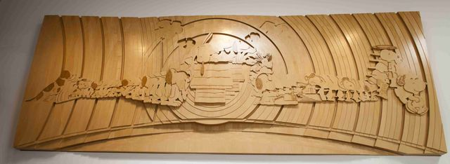 チャールズ・M・シュルツ・ミュージアムに飾られている大谷芳照さん制作「モーフィングスヌーピー」