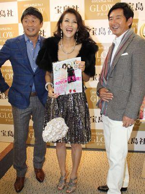 岡本夏生「60になってもハイレグ・ボディコンやりますから」(左)武田修宏、(右)石田純一