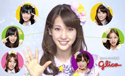 6人の顔の各パーツを組み合わせて誕生したAKB48新メンバー・江口愛実