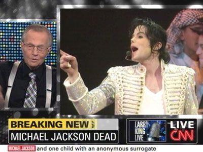 マイケルさんの死を悼むラリー・キング・ライブ