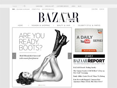 ミランダ・カーのヌード-Harper's BAZAARオフィシャルサイトよりスクリーンショット