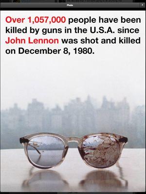 オノ・ヨーコが投稿したジョン・レノンさんの眼鏡の画像