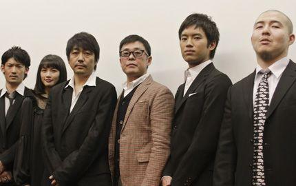 左より、淵上泰史、臼田あさ美、大森南朋、光石研、三浦貴大、奥田庸介