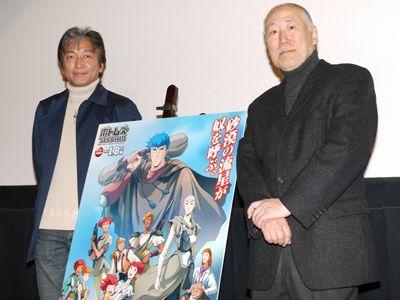 時代を超えて愛されて幸せです… -高橋良輔監督(右)、郷田ほづみ(左)