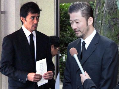 大滝秀治さんのお別れ会に参列した阿部寛と浅野忠信