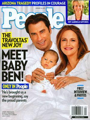 ピープル誌表紙-ジョン・トラヴォルタ、ケリー・プレストン、そして待望の男の赤ちゃんベンジャミンくん
