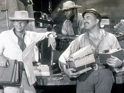フランク・シナトラと共演したときの若きバーニー・ハミルトン(写真中央)