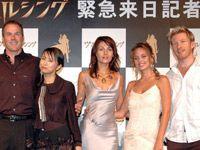 左からスティーヴン・ソマーズ監督、鈴木亜美、シルヴィア・コロカ、ジョージ・マラン、『ロード・オブ・ザ・リング』シリーズのファラミア役を務めたデヴィッド・ウェンハム