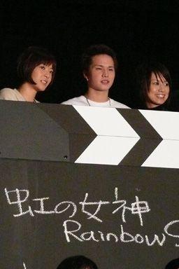 左から上野樹里、市原隼人、鈴木亜美