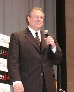 紀香も興味津々!元副大統領アル・ゴアが地球温暖化の危機を熱弁