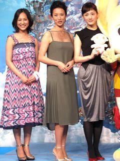 美脚が三人!綾瀬はるか、谷村美月、戸田菜穂『ホッタラケの島 遥と魔法の鏡』世界公開めざす