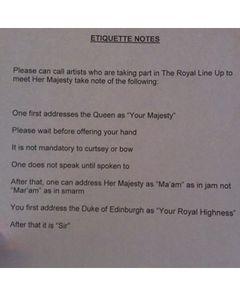 ニコール・リッチー、エリザベス女王に接見するためのルールを暴露