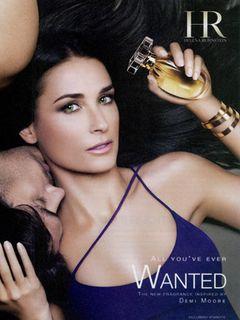 デミ・ムーア、香水の広告で胸の部分にエアブラシ修正疑惑!