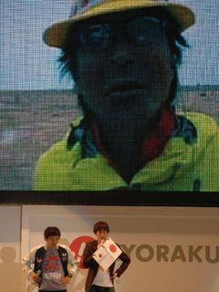 アースマラソン中の間寛平がイランから中継で沖縄に登場!衛星と後輩芸人を使って「なめなめくじくじ!」