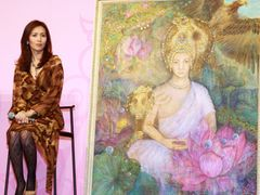 工藤静香、被災地へ絵の寄贈も 「ブッダの素顔展」ポストカードの収益を義援金として寄付