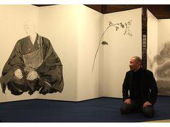 「SLAM DUNK」井上雄彦氏、びょうぶ絵「親鸞」完成の翌日東日本大震災 急きょ記念グッズ製作決定 収益金を被災地支援に