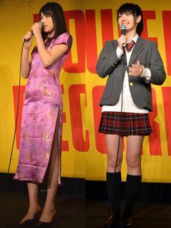 ハロプロ℃-uteの矢島舞美&鈴木愛理、セクシーなチャイナドレスと制服姿でファンを魅了!