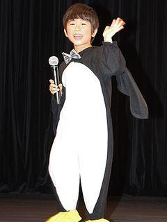 鈴木福のかわいさに劇団ひとり「息子がほしくなる」とメロメロ! キュートなペンギン姿で登場!