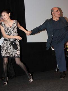 常盤貴子、巨匠監督の腕を引っ張り舞台袖に強制退場!?  映画愛にあふれたティーチインに会場は笑顔!