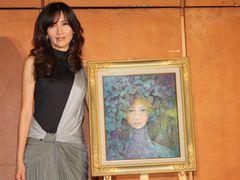 工藤静香、新作絵画を発表!ディズニー超大作絵画コンクールに出席し子どもたちの腕前に「刺激を受けました」