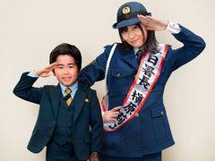 さしこ、ラブコール大成功!鈴木福と「コドモ警察」で共演決定!一日署長を務めるアイドル役!