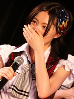 SKE48松井珠理奈、涙のAKBデビュー!「15歳の松井珠理奈です!」