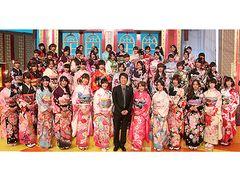AKB48メンバー48人が晴れ着で正月特番にずらり勢ぞろい!