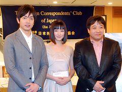 相撲映画『渾身』で外国人記者ら、隠岐の文化に興味深々