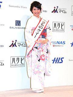 きもの美人日本一決定! 19歳の女優の卵、臼井千晶さんが「きものクイーン」に