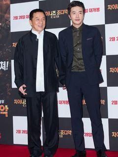 『ライジング・ドラゴン』クォン・サンウ、ジャッキー・チェンと仲良くレッドカーペットに登場!<韓国JPICTURES>