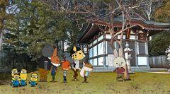 『怪盗グルー』ミニオン軍団が「紙兎ロペ」の世界に2Dになって登場!