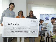 ダルビッシュ有、420万円を寄付!黒人初のメジャーリーガーに敬意表す