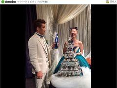 田中美保&稲本潤一、挙式と新婚旅行を報告!ツーショットも公開