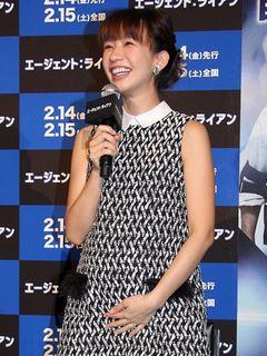優木まおみ、妊娠8か月のふっくらお腹で映画鑑賞「ドンドコ動いていました」